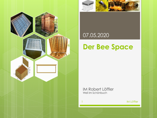 Onlinekurs:History of Beekeeping - the Bee space