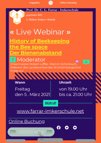 Live-Webinar History of Beekeeping-Bee space - 5.3.2021
